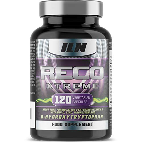 Reco Xtreme - Night Time Immune System - HIGH Strength - Zinc, Vitamin C and Magnesium - with Montmorency Cherry and 5-HTP - 120 Vegetarian Capsules