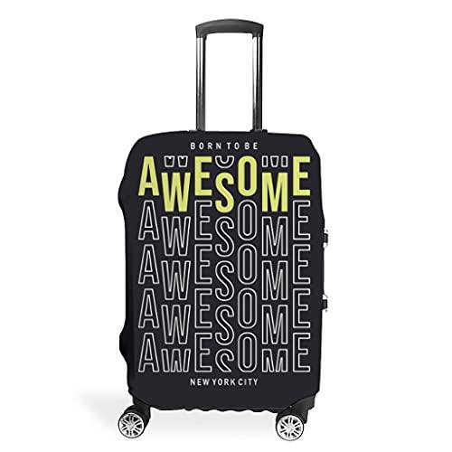 Nacido para ser genial para su maleta Awesome – Funda protectora para equipaje – Funda única para maleta.