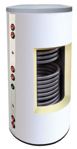 Solarspeicher, Pufferspeicher 300 Liter mit 2 Wärmetauschern - Farbe weiß