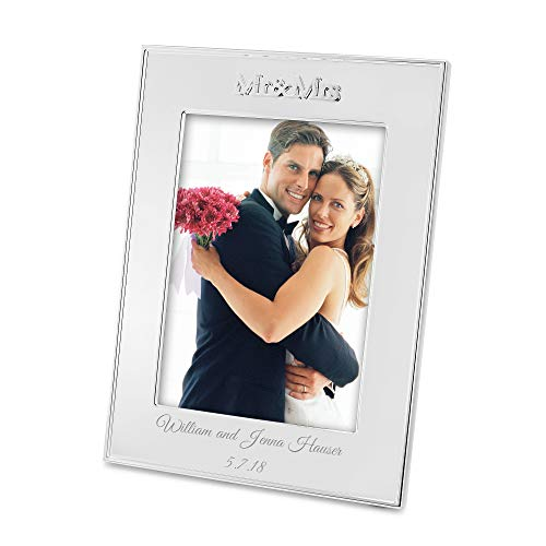 Things Remembered Personalized Mr and Mrs 5x7 Frame with Engraving Included
