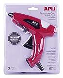 APLI 13942 - Pistola de cola y 2 barras de cola, color negro