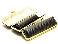 「天然黒水牛印鑑12.0mm×60mmクッキーブラックケース付き」 横彫り 篆書体