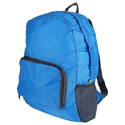 Fybida Mochila de Viaje Plegable Portátil Resistente al Desgaste Robusto y Duradero Nylon Ligero Impermeable para Hombres(Blue)