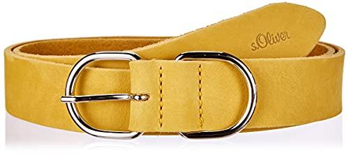 s.Oliver Damen Gürtel aus Leder yellow 85