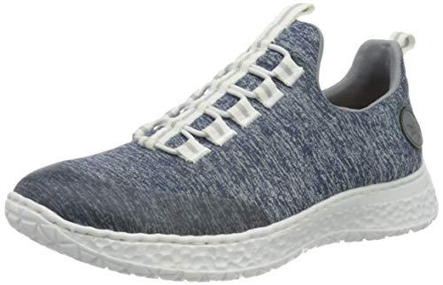 Rieker Damen Frühjahr/Sommer N4174 Sneaker, Blau (Clear/Mare/Adria 17), 39 EU