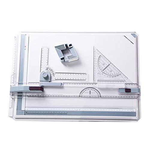 Fengstore A3 Zeichenbrett, professionelles Zeichen-Set, technisches A3 Kunst-Zeichentisch, multifunktionales Zeichenbrett mit Parallelbewegungswinkel-Messsystem, 50 x 36,5 cm