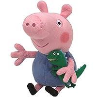 Ty Peppa Pig - Peluche de George con Dinosaurio