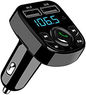 comprar comparacion SOOTEWAY Transmisor FM Bluetooth, Transmisor de Radio Inalámbrico Kit Adaptador de Coche con Función Manos Libres, Puertos...
