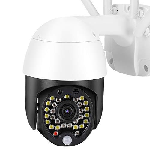 Cámara Cámara de vigilancia Cámara de seguridad Cámara De Vigilancia, 1in Mini Impermeable 1080p HD Detección De Cúpula Detección De Movimiento Inalámbrico WiFi 29 LED Inicio Cámara Al Aire Libre 110-