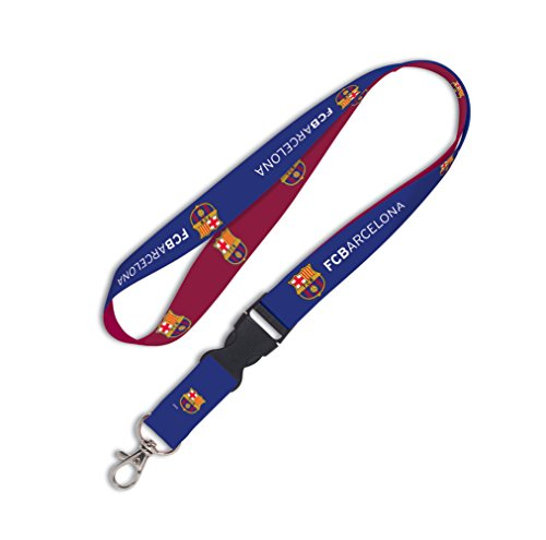 """WinCraft Soccer FC Barcelona Lanyard with Detachable Buckle, 3/4"""""""