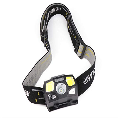 Faros 7000LM Linterna LED Linterna Sensor de Movimiento Potente Casco Lámpara de Cabeza Linterna Recargable Impermeable Linterna led con USB