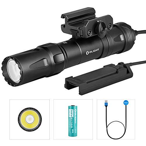 Olight Odin Professionale PICATINNY Torcia LED Potente 2000 lumen Torcia Ricaricabile Tattica Per Caccia Militare Polizia, Impermeabile IPX8, con Batteria 21700 + Scatola batteria