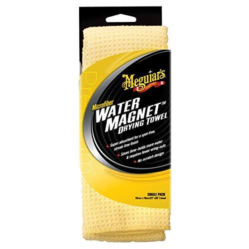 Meguiar's X2000 Water Magnet Microfiber Drying Towel, 1 Pack , Yellow , 22' x 30'