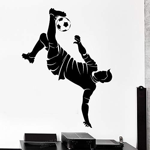 Tianpengyuanshuai sport voetbalspeler silhouet vinyl muursticker jongen slaapkamer wooncultuur sticker