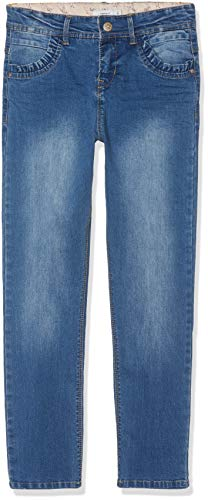 NAME IT NAME IT Mädchen NKFBECKY DNMTEREZA 2164 HW Pant Jeans, Blau (Medium Blue Denim), (Herstellergröße:140)