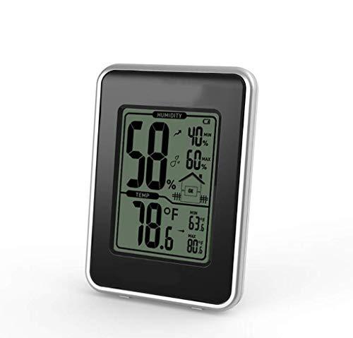 Innenthermometer, Digital Hygrometer, Temperatursensor, Familie Wetterstation, Geeignet für Haus, Zimmer, Küche, Hof, Plantation Zimmer,Schwarz