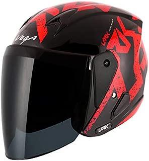 Vega Lark Victor Black Red Helmet, M