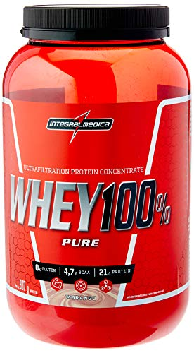 Whey 100% Pure Pote (907G) - Sabor Morango, Integralmédica