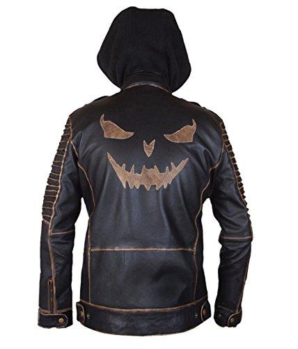 Suicide Squad Jared Leto Joker Killing Hooded Leder Jacke- perfekte Halloween-Kostüm- M