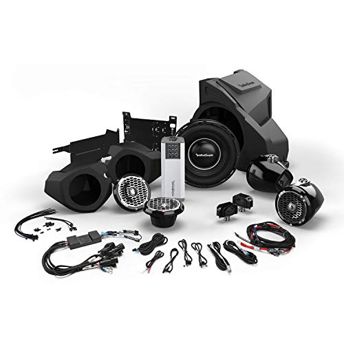Rockford Fosgate RZR14RC-STAGE5 for Ride Command Interface, 1,000 Watt Stereo, Front and Rear Speaker, and Subwoofer Kit for Select 2014 – 2020 Polaris RZR Models