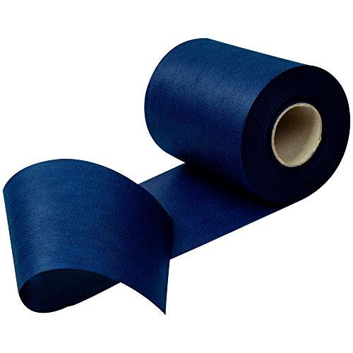 Rollo de tela para camino de mesa, no tejida, téxtil, bleu foncé, Breite: 15 cm, Länge: 25 m