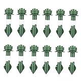 Set de riego automático 12 unids con Picos de Acero de los Dispositivos de riego de la Planta Dispositivos de irrigación de la Planta en Maceta Green Green, Boquillas, Boquillas, Dippers