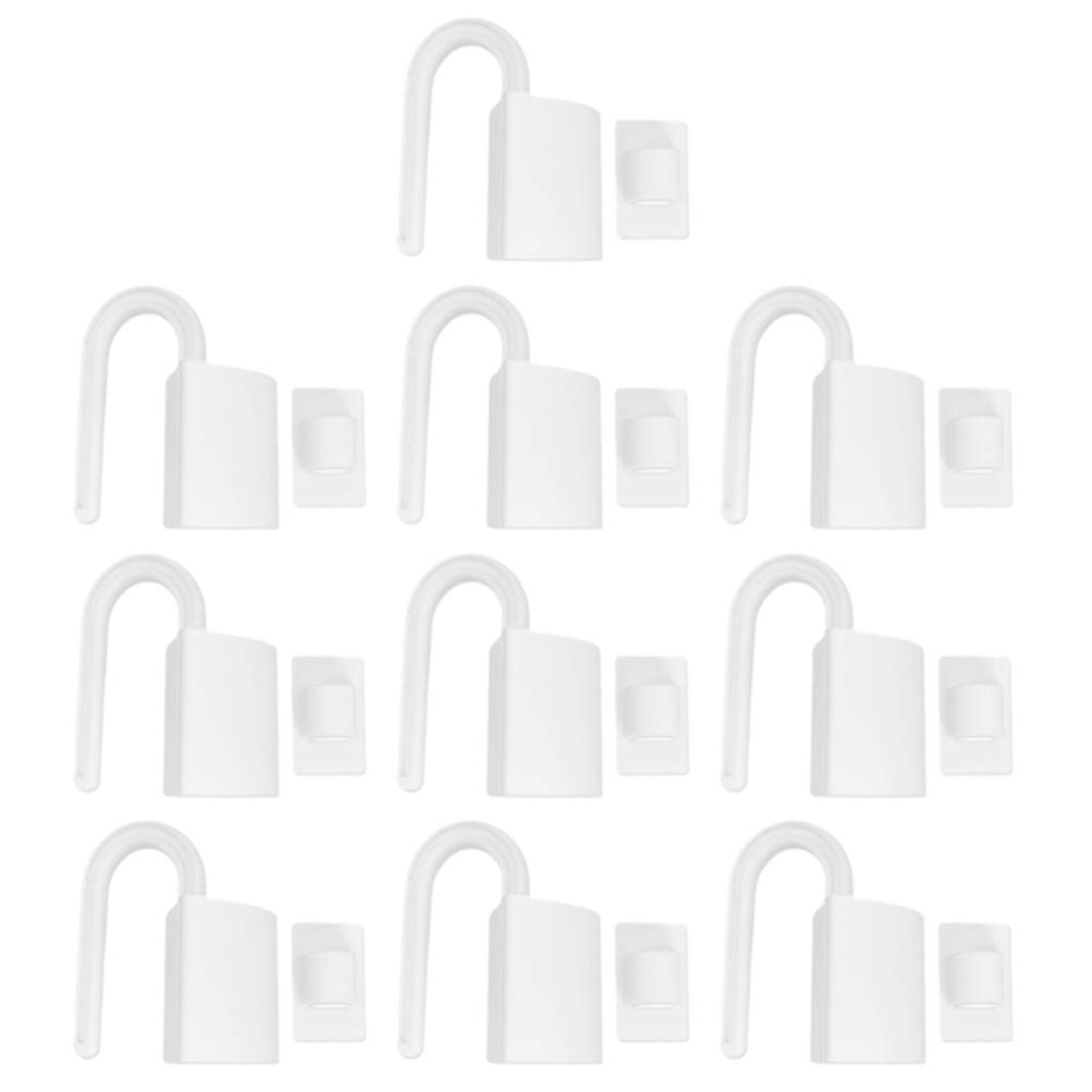 NUOBESTY 10Pcs Child Proof Door Lock Reusable Finger Pinch Guard Kids Safety Finger Pinch Hinge Guard Protector Door Stops for Home Hotel Office (White)