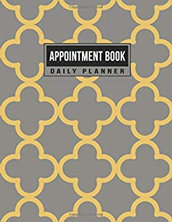 Appointment Book Daily Planner: Schedule Notebook for Nail Salons, Spas, Hair Stylist, Beauty & Massage Businesses with Times Daily and Hourly Spaced In 15 Minute Increment (Gold Smooth Geometric)