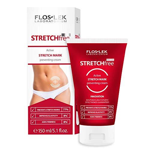 Floslek Slim Line Crème active anti-vergetures | 150 ml | raffermissement et hydratation | Peau lisse et forte | Pour les personnes de tous âges | Pour tous les types de peau