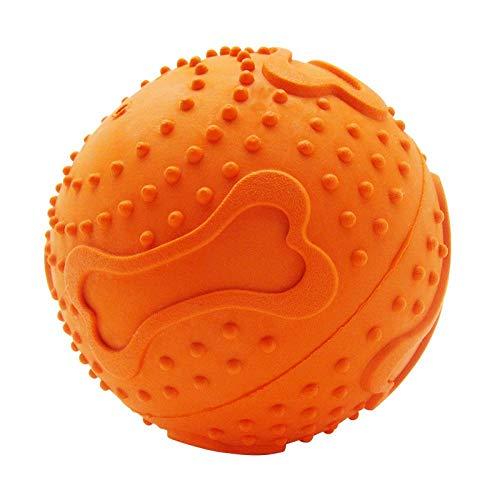 interaktives Spielzeug Sound Ball Spielzeug, Sound Biss resistente Hohlkugel, Pet Ball Spielzeug-Orange Trompete Puzzle Spielzeug