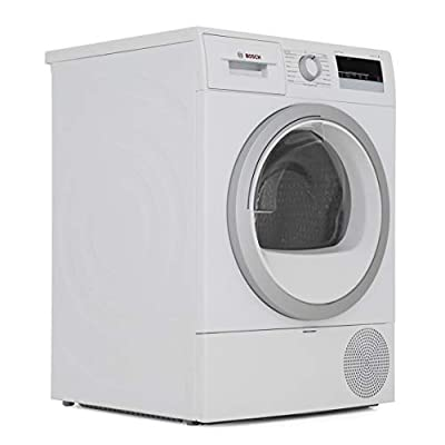 Bosch Serie 4 WTR85V21GB 8kg Heat Pump Condenser Tumble Dryer, Quiet 65dB Drying