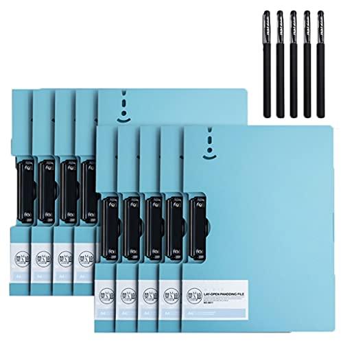10. PCS. Singola clip Morandi Blue File Cartella Scrittura Pad A4 Appunti Documento Portabicchieri Plastic Clip Board School School Forniture for ufficio
