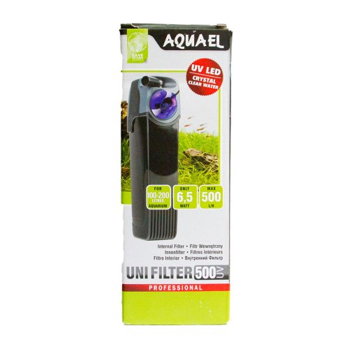 Aquael Filtro Interno UV 500 per Aquariophilie, 500 l/h