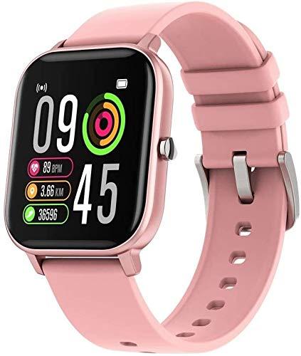 SSFG Monitor de Actividad Pantalla podómetro Temperatura Smartwatch versión Mejorada, Reloj Inteligente Deportivo P8T Pantalla táctil de frecuencia cardíaca