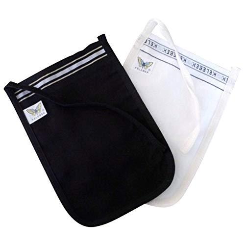 Set von 2Kese Peeling Handschuhe, Hammam/Spa, Schwarz und Weiß, Handschuh Mitt