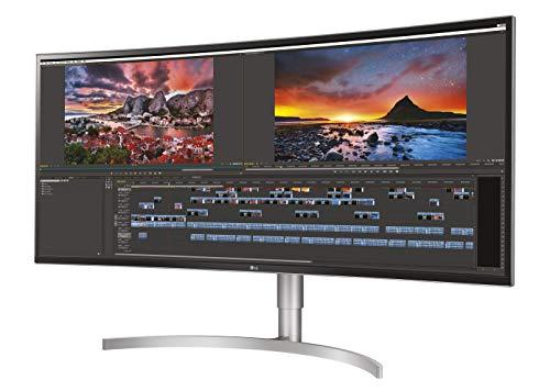 LG 38WK95C-W 95,25 cm (37,5 Zoll) Curved QHD UltraWide Monitor (AH-IPS-Panel, AMD FreeSync, HDR10), weiß silber