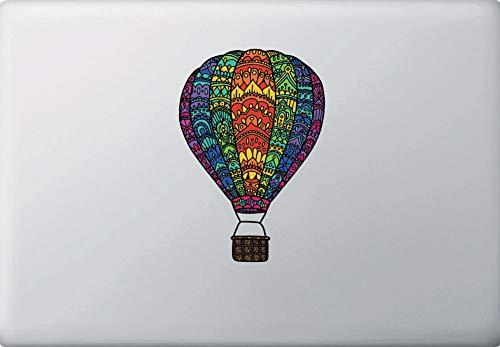 Calcomanía de vinilo opaco con diseño de globo de aire caliente 2017 o. (MD 10,2 x 15,2 cm)