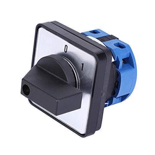 Nicoone Interruptor para cámara eléctrica de 2 posiciones, 4 terminales, universal, conmutador de transferencia, bloqueo, interruptor selector AC660 V 20 A