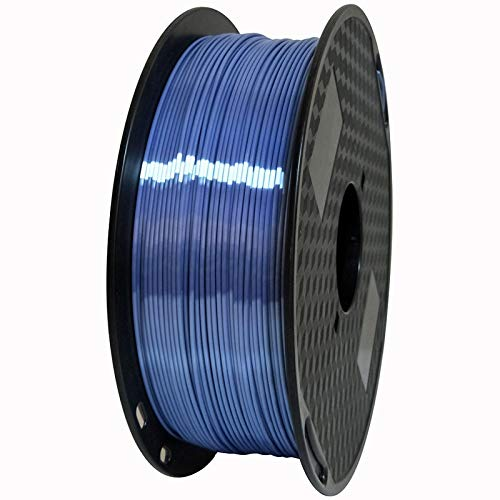 SRY-Holster HH-DYHC, 1pc Silk Silver Blue PLA Filament 1.75mm 500g 3d Printer Filament Silky Shine 3d Pen Printing Materials Shiny Metal Metallic (Color : Silveblue)