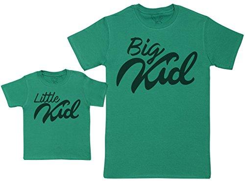 Baby Bunny Little Kid & Big Kid - Ensemble Père Bébé Cadeau - Vert - S & 2-3 Ans