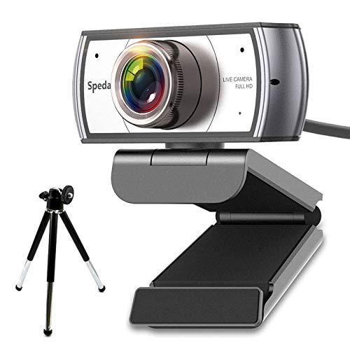 Spedal Webcam 120 Gradi Grandangolare Webcam con Treppiede Videoconferenza...