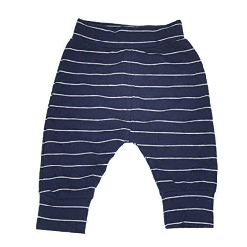 Tamaño grande bebé niños niñas diseño de rayas pantalones -  Azul -