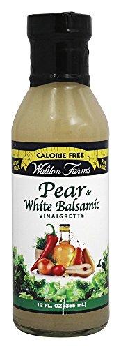 Walden Farm's Pear and White Balsamic Vinaigrette Salad Dressing, 12 Ounce (Pack of 6)