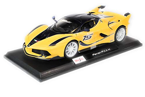 Maisto Ferrari FXX K Yellow 1:18 Scale Car Special Edition