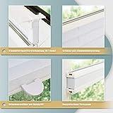 Plissee ohne Bohren klemmfix Jalousie Sonnenschutz Easyfix Faltrollo Crushed Optik Lichtdurchlässig Rollo für Fenster & Tür Weiß 55x100cm(BXH) - 3