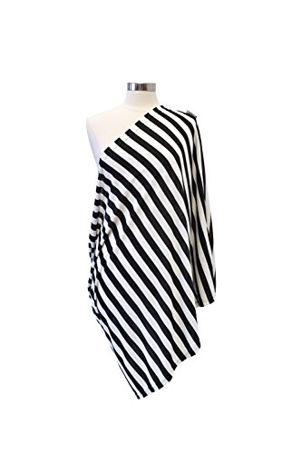 Itzy Ritzy Still Happens Infinity Stillen sjaal, zwart en wit gestreept