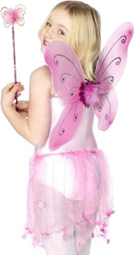 Smiffy's Kit Papillon Rose Fille - Rose - TU