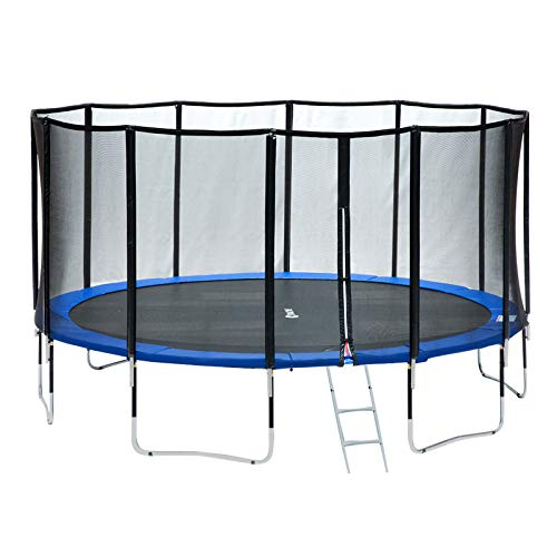 Exacme 15 Foot Outdoor Round Trampoline 400 LBS Weight Limit with Premium Enclosure Carbon Fiber Surrounded Net, L15