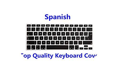 Membrana della tastiera Arabic Spanish Hebrew Russian French Portuguese Italia Silicone Keyboard Cover Skin for Macbook Air Pro Retina 13' 15' 17',Spanish