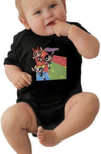 Powerpuff Girls Buttercup Baby Outfits Short Sleeve T-Shirt Bodysuit Romper Black